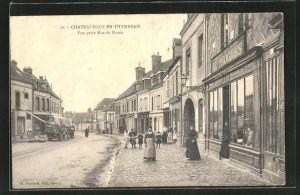 AK Chateauneuf-en-Thymerais, vue prise rue de Dreux