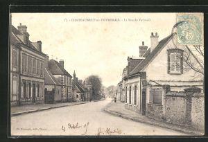 AK Chateauneuf-en-Thymerais, La Rue de Verneuil
