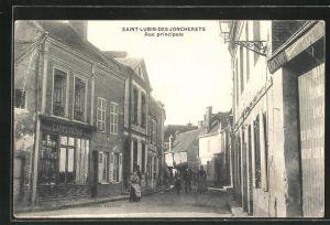 AK Saint-Lubin-des-Joncherets, Rue principale