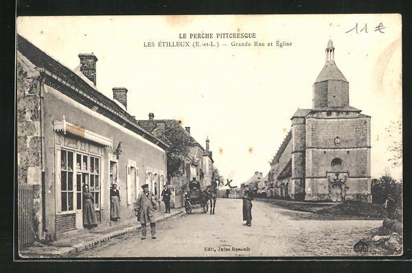 AK Les Etilleux, Grande Rue et Eglise
