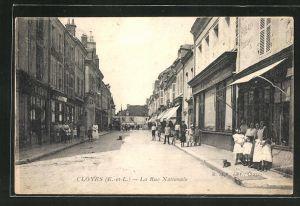 AK Cloyes, La Rue Nationale