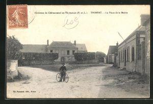 AK Chateauneuf-en-Thymerais, La Place de la Mairie
