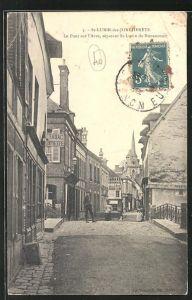 AK St-Lubin-des Joncherets, le pont sur l`Avre, seperant St.Lubin de Nonancourt