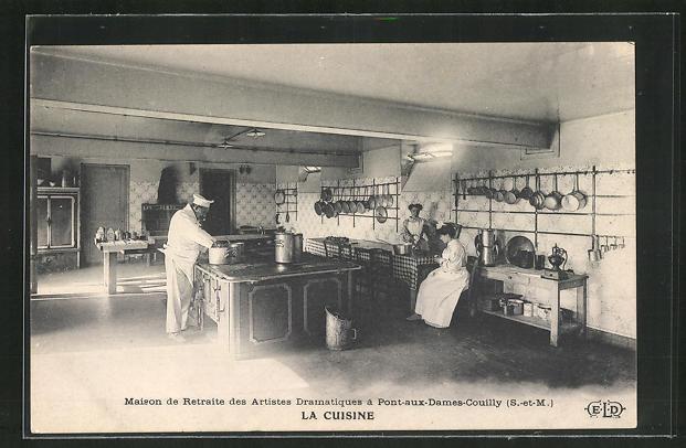 AK Pont-aux-Dames-Couilly, Maison de Retraite des Artistes Dramatiques, la Cuisine