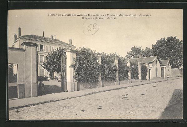 AK Pont-aux-Dames-Couilly, Maison de Retraite des Artistes Dramatiques, Entrée du Chateau
