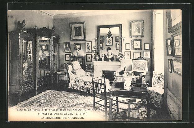 AK Pont-aux-Dames-Couilly, Maison de Retraite des Artistes Dramatiques, La Chambre de Coquelin