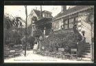 AK Montigny-sur-Loing, Terrasse de l` Hotel de la Vanne Rouge