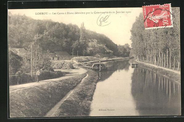 AK Lorroy, Les Caves a Blanc detruites par la Catastrophe du 21 Janvier 1910