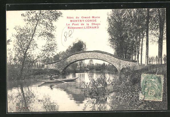 AK Montry-Conde, Sites du Grand-Morin, Le Pont de la Dhuys, Restaurant Lienard