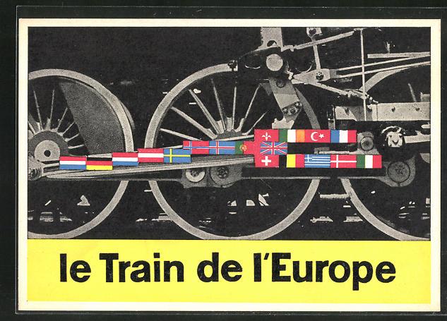 AK Le Train de l`Europe, Eisenbahn