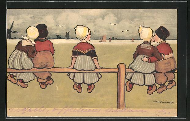 Künstler-AK Ethel Parkinson: Kleine Holländerin hat keinen Partner