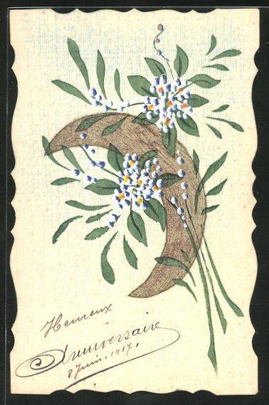 Künstler-AK Handgemalt: Bildnis von Blumen