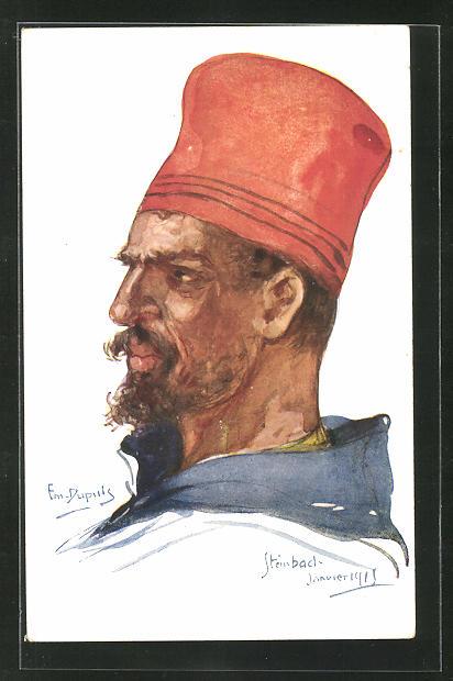 Künstler-AK Em. Dupuis: Steinbach, Janvier 1915, Turko, Zuave