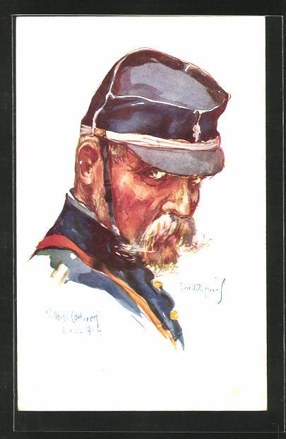 Künstler-AK Em. Dupuis: Soldat in Uniform mit Schirmmütze