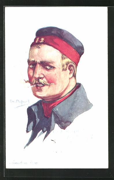 Künstler-AK Em. Dupuis: Infanterie Belge, Fort de Boncelles 1914, Belgier