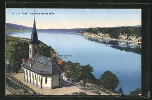 AK Le Pont, Eglise et lac de Joux