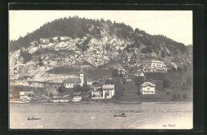 AK Le Pont, Gesamtansicht vom See aus gesehen