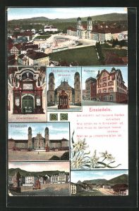 AK Einsiedeln, Rathaus, Stiftskirche, Gnadenkapelle