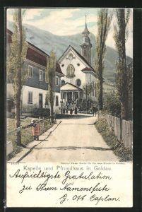 AK Goldau, Blick auf Kapelle und Pfrundhaus