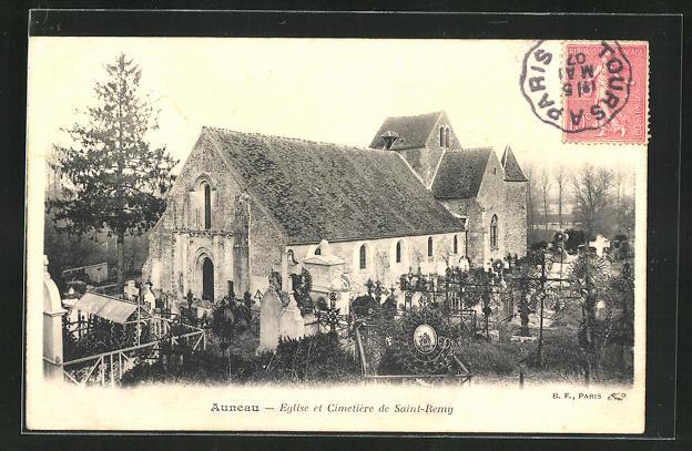 AK Auneau, Eglise et Cimetiere de Saint-Remy