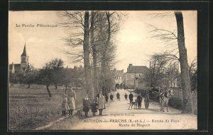 AK Authon-du-Perche, Entree du Pays, Route de Nogent