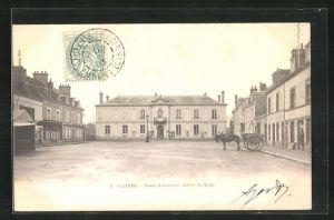 AK Cloyes, Place Gambetta, Hotel de Ville