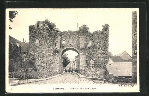 AK Bonneval, Porte et Rue Saint-Roch