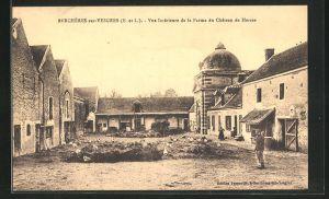 AK Bercheres-sur-Vesgres, Vue Interieure de la Ferme du Chateau de Herces