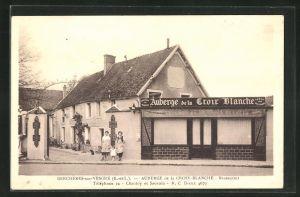 AK Bercheres-sur-Vesgres, Auberge de la Croix-Blanche, Restaurant