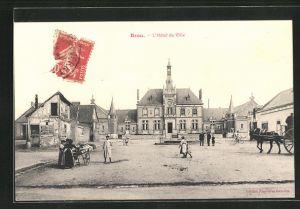 AK Brou, L`Hôtel de Ville, Rathaus