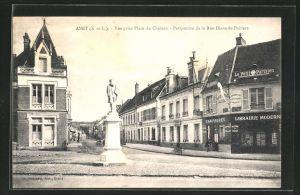 AK Anet, Vue prise Place du Château, Blick in die Rue Diane-de-Poitiers