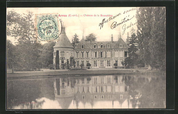 AK Arrou, Château de la Brunetière, Panorama vom Schloss