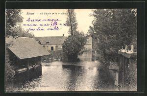 AK Alluyes, Le Lavoir et le Moulin, Wassermühle