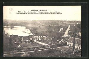 AK Thiron-Gardais, Vue panoramique prise du Clocher Etang