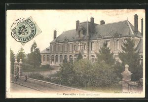 AK Courville, Ecole des Garcons, Ansicht der Knabenschule