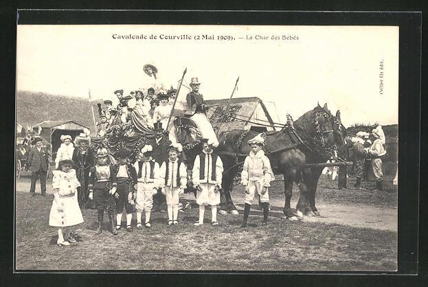 AK Courville, Cavalcade de Courville 2.5.1909, Le Char des Bébés