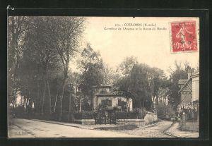 AK Coulombs, Carrefour de l`Avenue et la Route du Moulin