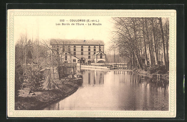 AK Coulombs, Moulin, Les Bords de l`Eure