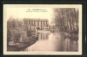 AK Coulombs, Moulin, Les Bords de l`Eure