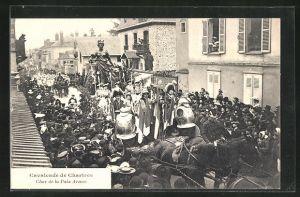 AK Chartres, Cavalcade - Char de la Paix Armèe