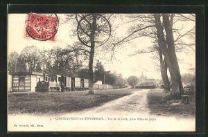 AK Chateauneuf-en-Thymerais, Vue de la Gare, prise Allèe du Jaglu