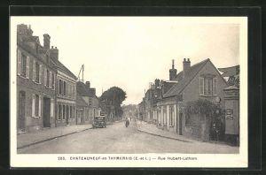 AK Chateauneuf-en-Thymerais, Rue Hubert-Latham