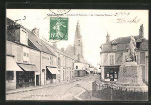 AK Chateaudun, L` Eglise St-Valèrien, le Gaulois Vaincu