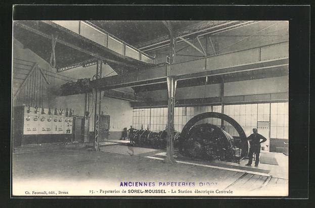 AK Sorel-Moussel, Papeterie - La Station èlectrique Centrale