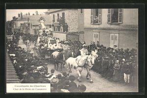 AK Chartres, Cavalcade - Char de la Reine du Commerce