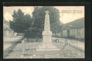 AK Alluyes, Le Monument aux morts