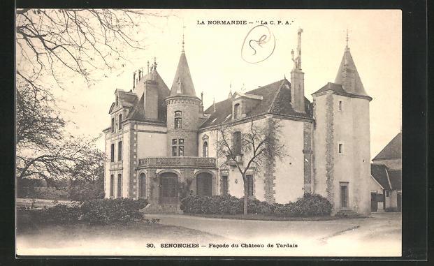 AK Senonches, Facade du Chateau de Tardais