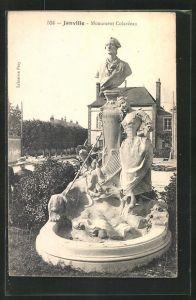 AK Janville, Monument Colardeau