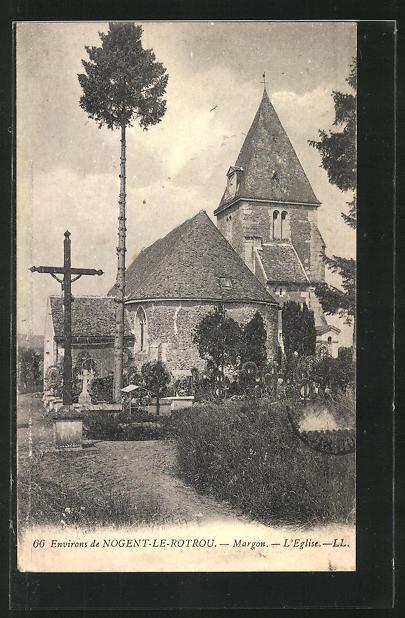 AK Nogent-le-Rotrou, Margon, L`eglise