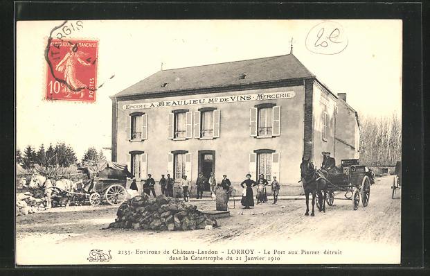 AK Lorroy, le port aux pierres detruit dans la Catastrophe du 21 Janvier 1910